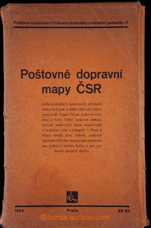 168594 - 1934-49 [SBÍRKY]  POŠTOVNÍ MAPY - ojedinělá sestava 58 ks po