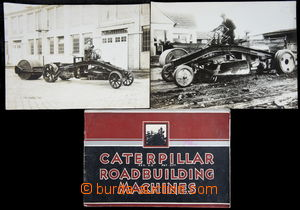168595 - 1930 DOPRAVNÍ STROJE/ CATERPILLAR  sestava 2ks čb fotopohled