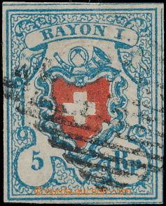 168652 - 1851 Mi.9II, RAYON II, 5Rp bez orámování kříže, kosočtvercov
