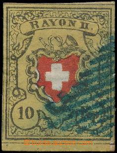 168654 - 1850 Mi.8II, RAYON II, 10Rp černá / oranžovo-červená, bez or