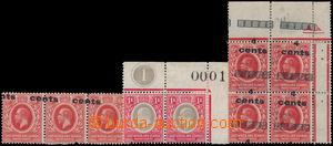 168708 - 1904-1919 PROTEKTORÁT, SG.18a, 64a, 64var, Edvard VII. 1 Ann