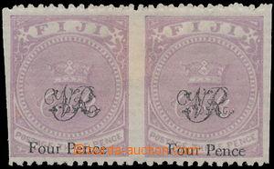 168715 - 1877 SG.34a, Koruna VR, Four Pence na 3P fialová, 2-páska S