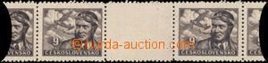 168745 - 1946 Pof.L19Mv, Letecké motivy 9Kčs hnědá, kompletní vo