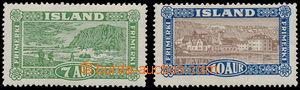 168821 - 1925 Mi.114-115, Krajiny Islandu 7Aur + 10Aur, neúplná série
