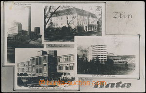 169060 - 1931 ZLÍN - Baťa - 4-okénková čb fotopohlednice, Klubovní dů