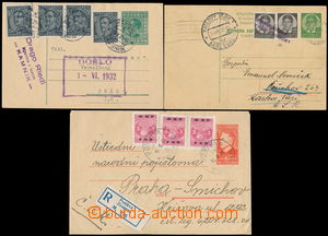 169217 - 1932-50 comp. 3 pcs of p.stat addressed to Czechoslovakia, a