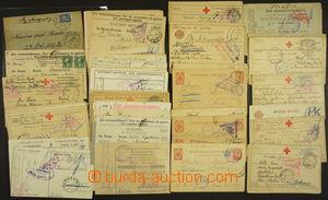 169743 - 1915-17 ZAJATECKÁ POŠTA - RUSKO  sestava cca 120ks lístků a