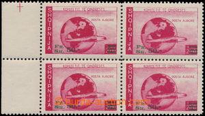 169773 - 1940-45 EXILOVÉ VYDÁNÍ  4-blok přetiskové Letecké 50FR/200Fr
