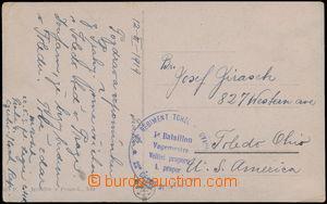 169794 - 1919 FRANCIE  pohlednice bez frankatury, zaslaná z Prahy jak