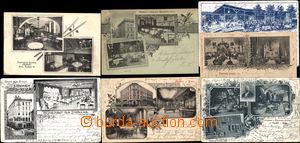 169919 - 1890-1925 BRNO - RESTAURACE  sestava 7ks různých pohlednic