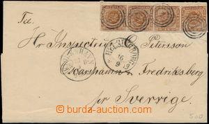 169947 - 1859 skládaný dopis adresovaný do Švédska, vyfr. vodorovnou