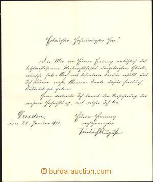 169990 - 1911 FRIEDRICH AUGUST III. SASKÝ (1865-1932), poslední král