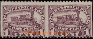170068 - 1860-1863 SG.9a, Lokomotiva 1C, dull claret, 2-páska s vynec