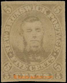 170386 - 1860 SG.13, ZT pro NEVYDANOU známku Connel 5C hnědá; nezoubk