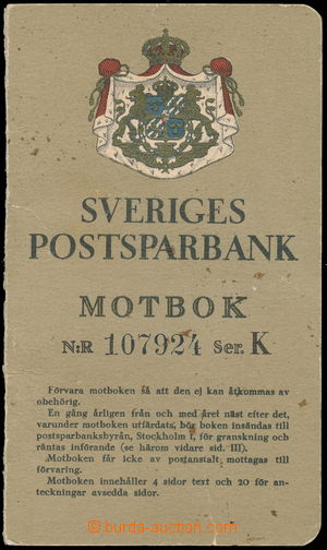 170535 - 1930 ŠVÉDSKO  spořitelní knížka švédské Poštovní banky, použ