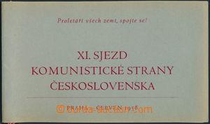 170537 - 1958 ČSR  pozvánka pro hosta na XI. sjezd KSČ v Praze