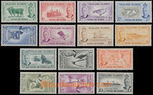170772 - 1952 SG.172-185, Jiří VI. - Motivy; kompletní série po nálep