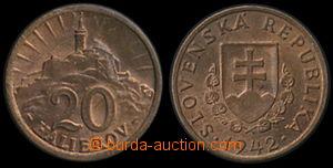 171060 - 1942 SLOVENSKO  Novotný 26, mince 20h, 1942