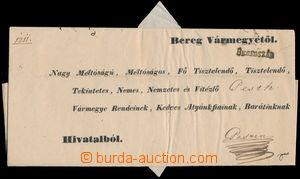 171326 - 1844 předznámkový dopis zaslaný do Pešti, černé řádkové BERE