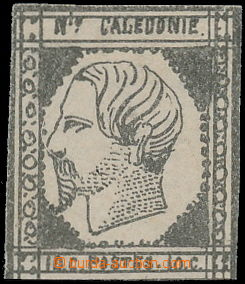171372 - 1860 Mi.1, Napoleon III. 10C šedočerná, na 3 stranách plný s