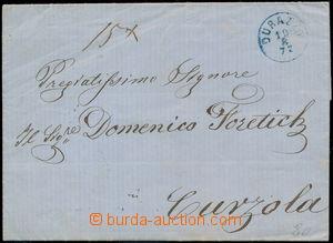 171675 - 1872 skládaný dopis bez frankatury adresovaný na Korčulu, mo