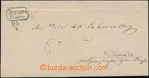 171833 - 1840 ČESKÉ ZEMĚ  skládaný dopis s 2-řádkovým raz. RAYGERN /