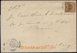 171960 - 1854 skládaný dopis, vyfr. zn. Znak 4S hnědá, Mi.1 (kat. AFA