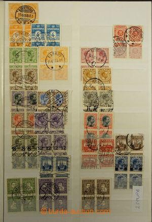171984 - 1910-78 [SBÍRKY]  sbírka razítkovaných 4-bloků v 32-listovém