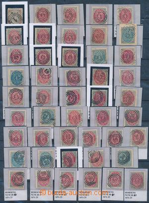 171986 - 1870-90 [SBÍRKY]  vybraná sestava kruhových číslicových razí