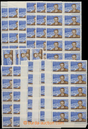 172016 - 1959 Mi.2288, M. Glezos, 40k, comp. 11 blocks of 10, 2 pcs o