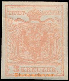 172055 - 1850 Mi.3y, Ferch.3MIIIb, Znak 3Kr matně růžová (stumpf rosa