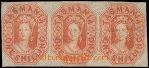 172350 - 1858 SG.41, Viktorie Chalon Head 1Sh, vodorovná 3-páska neup