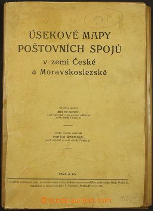 172353 - 1930 [SBÍRKY]  ÚSEKOVÉ MAPY POŠTOVNÍCH SPOJŮ v zemi Č