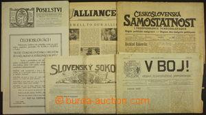 172364 - 1918-45 ODBOJ / SOKOL  sestava různých odbojových a krajansk