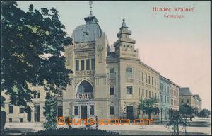 172422 - 1910 JUDAIKA - HRADEC KRÁLOVÉ - synagoga, kolorovaná, čelní