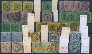 172462 - 1851-68 Mi.2-7, 10, 11, 17, 19, 20, 23, 25, sestava 37ks zn.