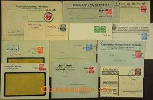 172471 - 1938 sestava 12ks firemních celistvostí s provizorními razít