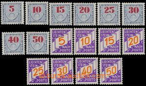 172682 - 1928-40 Mi.13-20 + 21-28, Doplatní známky, 2 kompletní série