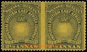 172721 - 1890-1895 SG.7cc, Slunce a koruna 2-páska 2½ Annas čern