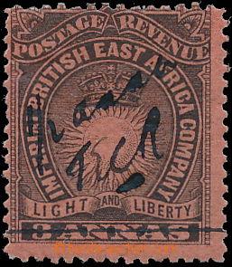 172722 - 1895 SG.31, PROVISORIUM MOMBASA, ½ Anna na 3 Annas čern