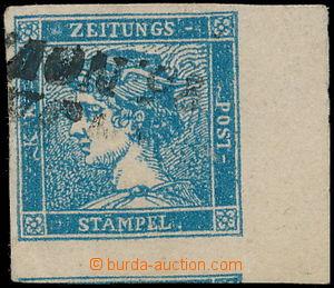 172757 - 1851 Ferch.6IIIb, modrý Merkur 0,6Kr s pravým okrajem 8mm, D