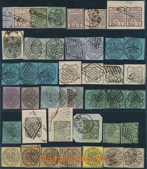 172791 - 1852 Sass.1-9, sestava 45ks zn. Znak, obsahuje mj. Sass.1Aa