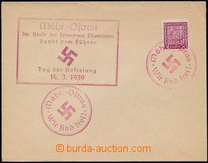 172818 - 1938 obálka s vylepenou zn. 30h Znak, Pof.252, 2x provizorní
