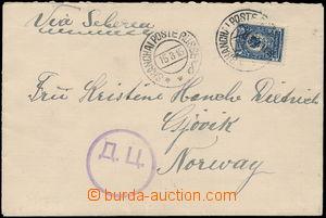 172996 - 1915 CHINA  dopis z Šanghaje do Norska, vyfr. zn. Znak 10K,
