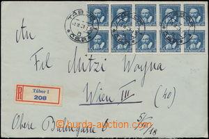 173086 - 1939 těžký R-dopis z Tábora do Vídně s Pof.300, 248, 10-blok