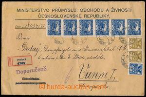 173095 - 1921 R-dopis z pražského Ministerstva průmyslu do Vídně
