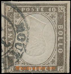 173133 - 1859 Sass.14A, Viktor Emanuell II., 10C šedo hnědá, chybotis