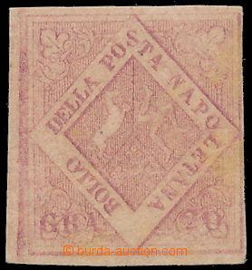 173134 - 1859 Sass.13, Znak 20Gr; původní lep, lehký lom dole, velmi