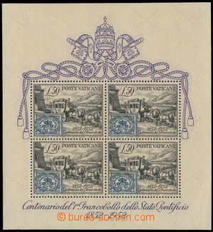 173151 - 1952 Mi.Bl.1, 100 let známky Církevního státu Dostavník, dvl