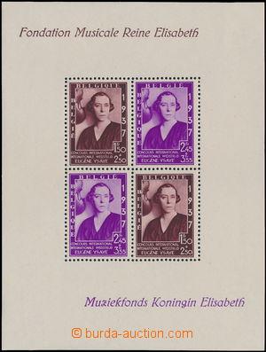 173154 - 1937 Mi.Bl.6, aršík Hudební nadace královny Alžběty; svěží